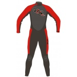 Base Unite Grow Junior Long Wetsuit Red